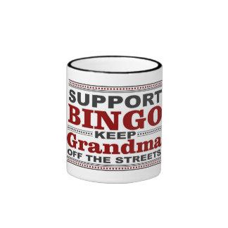Taza de café del bingo de la abuela