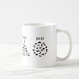 Taza de café del blanco 2 del ego de Eco
