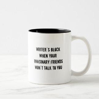 Taza de café del bloque de los escritores