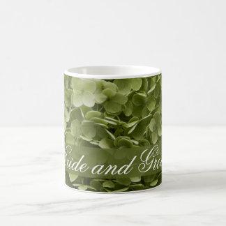 Taza de café del boda del Hydrangea de Annabelle