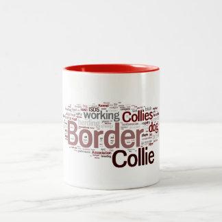 Taza de café del border collie