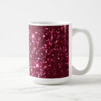 Taza de café del brillo de la chispa de las rosas