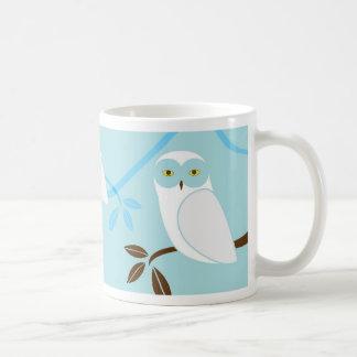 Taza de café del búho Nevado