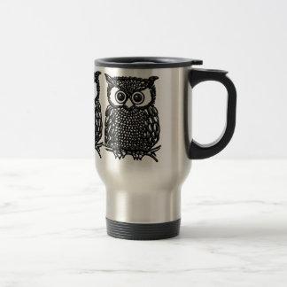Taza de café del búho, taza del viaje o tazas hela