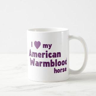 Taza de café del caballo de Warmblood del