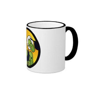 Taza de café del cactus de la pesca