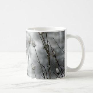 Taza de café del cardo taza básica blanca