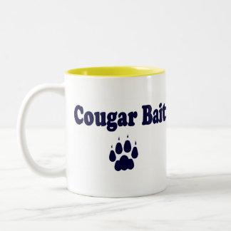 Taza de café del cebo del puma