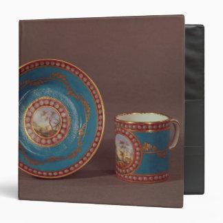 "Taza de café del celeste del bleu de Sevres y Carpeta 1 1/2"""