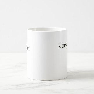 Taza de café del chica del jersey