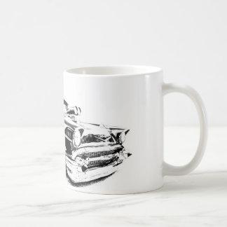 Taza de café del coche de carreras