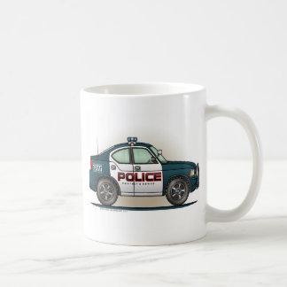 Taza de café del coche del poli del coche del