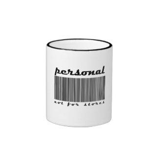 Taza de café del código de barras
