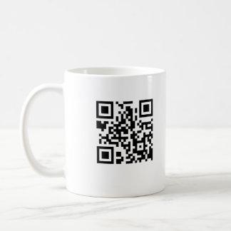 Taza de café del código de QR