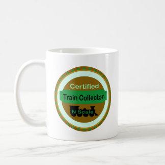 Taza de café del colector del tren de la escala de