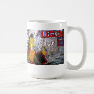 Taza de café del color de la legión