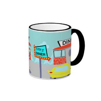 taza de café del comensal de los años 50
