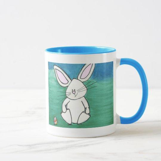 Taza de café del conejito de pascua