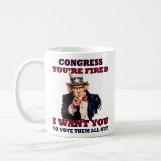 Taza de café del congreso del fuego