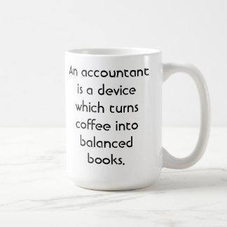 Taza de café del contable