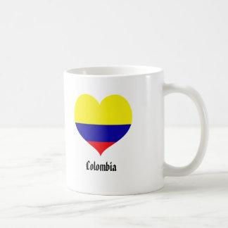 Taza de café del corazón de Colombia