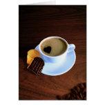 Taza de café del corazón - tarjeta de felicitación