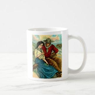 Taza de café del cortejo del vaquero
