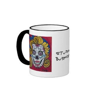 Taza de café del cráneo del azúcar de Marilyn