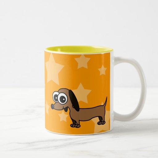 Taza de café del Dachshund del dibujo animado