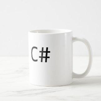Taza de café del desarrollador de C#