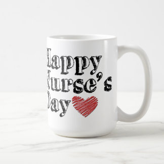 Taza de café del día de la enfermera feliz