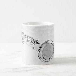 Taza de café del dibujo del Clarinet