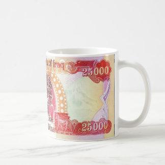 Taza de café del dinar iraquí 25.000 - taza de té