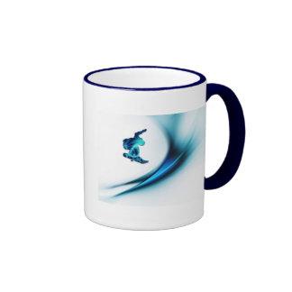 Taza de café del diseño de la snowboard