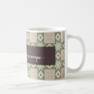 Taza de café del diseño del edredón