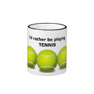 Taza de café del diseño del tenis