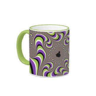 Taza de café del disturbio visual