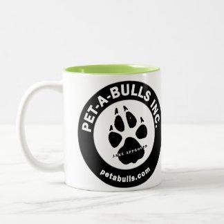Taza de café del Dos-Tono de los Mascota-UNO-Toros