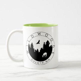 Taza de café del Dos-Tono del logotipo de