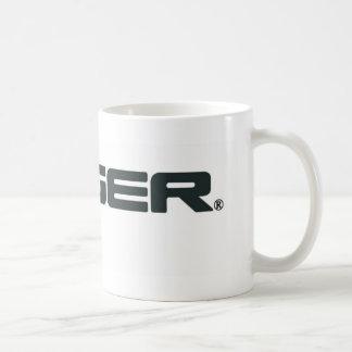 Taza de café del emisor de ultrasonidos - logotipo