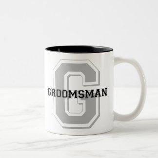 Taza de café del equipo del novio del padrino de b