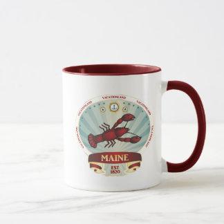 Taza de café del escudo de la langosta de Maine