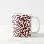 Taza de café del estampado leopardo