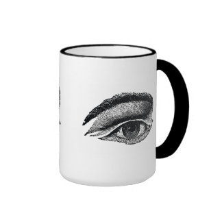 Taza de café del estilo del vintage del ojo