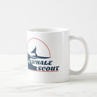 Taza de café del explorador de la ballena