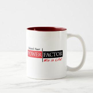 Taza de café del FACTOR de PODER