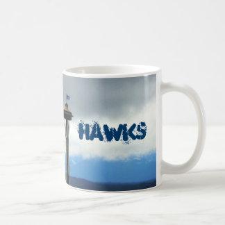 Taza de café del fanático del fútbol de Seattle