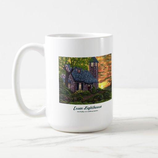 Taza de café del faro de Essex
