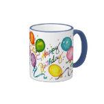Taza de café del feliz cumpleaños