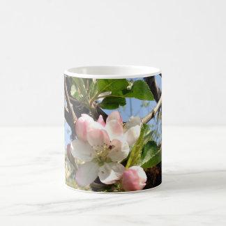 taza de café del flor de la manzana